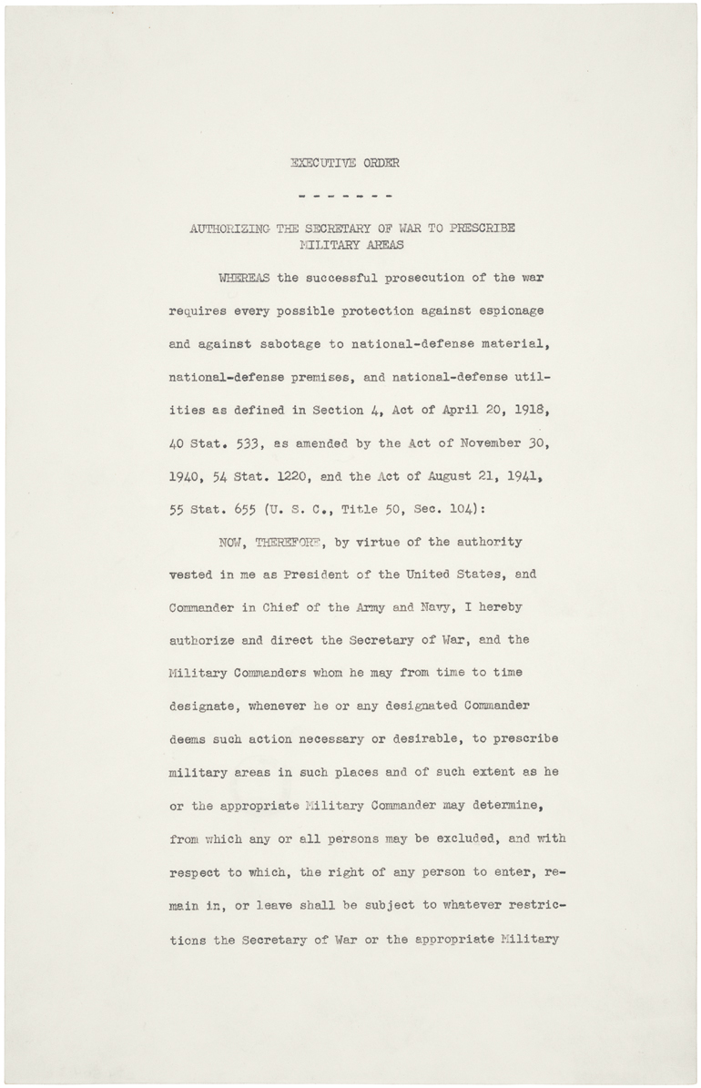 Original text of EO 9066