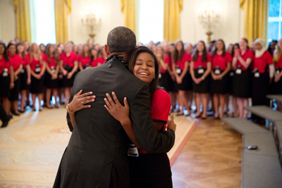 president obama dancing with Girls Nation participant