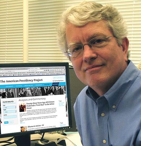 John Woolley at his desk