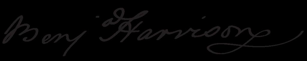Benjamin Harrison's signature