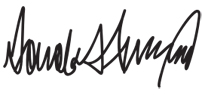 Donald J. Trump's signature
