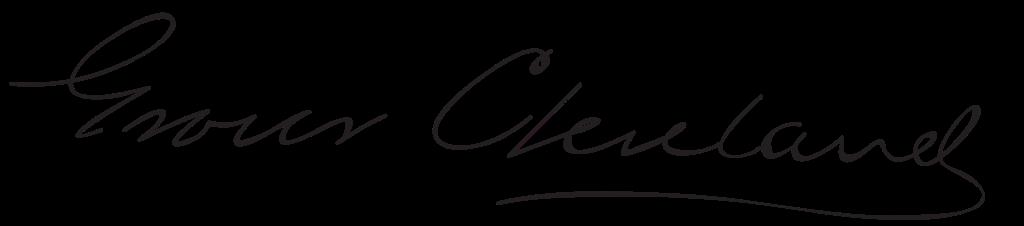 Grover Cleveland's signature