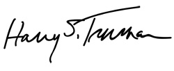 Signature of Harry S. Truman