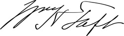 Signature of William Howard Taft