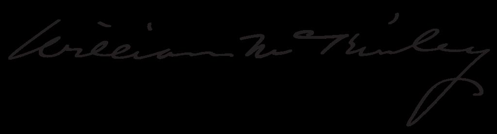 William McKinley's signature