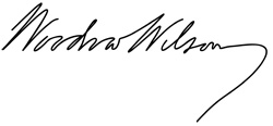 Signature of Woodrow Wilson