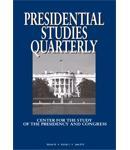 Presidential Studies Quarterly cover