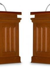 empty podium for debate